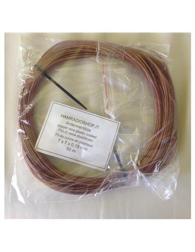 Trecciola in rame plastificato Ø 1,5mm  per antenne filari e dipoli  Bobina 50m