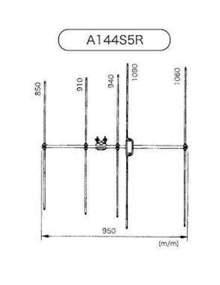 Diamond A-144S5R2 - Antenna direttiva 5 elementi 144MHz