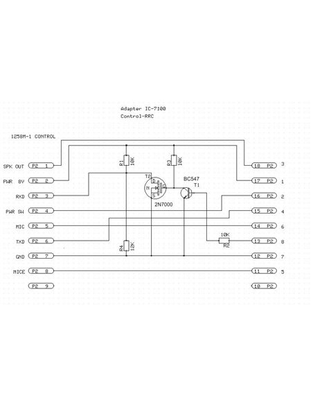 Remoterig - 1258M Adapter for IC-7100