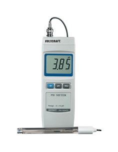 PH-100 ATC Voltcraft - Misuratore di pH digitale da 0 a 14 pH