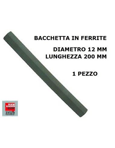 BACCHETTA IN FERRITE 1 PEZZO MM 12X200