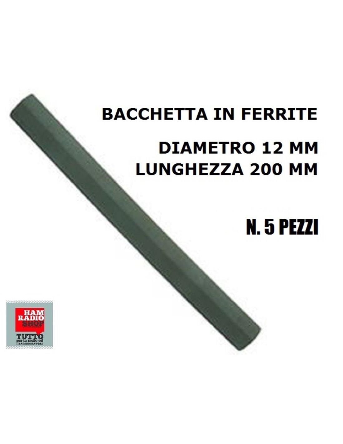 BACCHETTA IN FERRITE 5 PEZZI MM 12X200