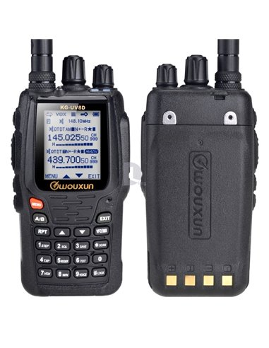 Wouxun KG-UV8DE PLUS UPGRADE CON SCRAMBLER  VERS. EXPORT 136-174/400-520 MHz MAN. ITALIANO