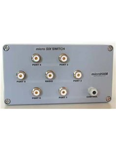 microHam micro SIX SWITCH commutatore d'antenna 6 posizioni connettori UHF (SO-259)