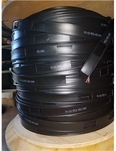 Piattina Bifilare 450 ohm con conduttore a trefolo multifilo in acciaio ramato