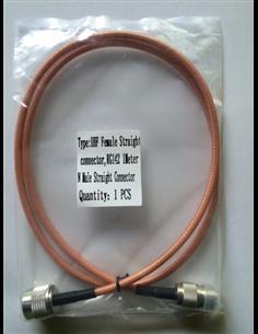 Cavo di raccordo coassiale professionale RG-142 connettori N maschio UHF (SO239) femmina 1 metro