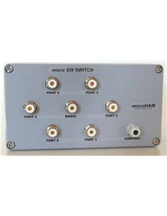microHam micro FOUR + FOUR SWITCH commutatore d'antenna 6 posizioni connettori UHF (SO-259)
