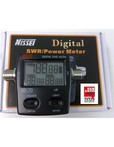 Nissei RS-70 Rosmetro Wattmetro digitale 1.6-125 MHz