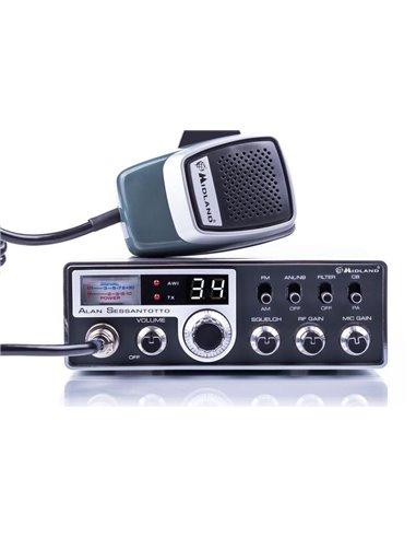 Midland ALAN SESSANTOTTO - CB Veicolare AM-FM 34 canali