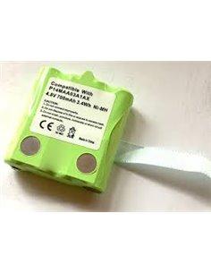 Pacco batteria ricaricabile ricambio per Motorola serie TLKR e Midland serie GX, Ni-Mh 4.8V / 700mAh 3.4 Wh