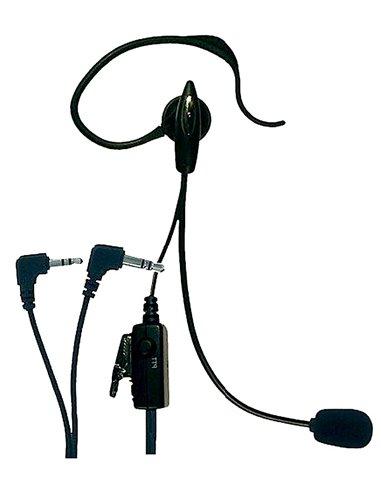 ALBRECHT AE/30 Microfono auricolare con PTT e VOX per Midland