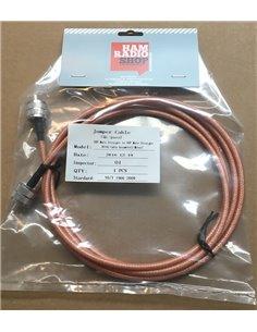 Cavo di raccordo coassiale professionale RG-142 connettori PL maschio 2 metri