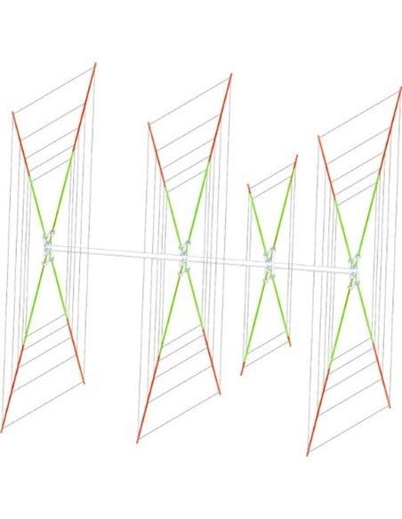 Status QUAD: 3/4 StQ 5, cubica 3/4 elementi 5 bande