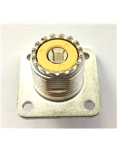 AMPHENOL Connettore coassiale femmina da pannello UHF SO-239 83-1R