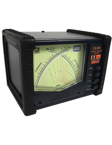 Daiwa CN-901 VN SWR Wattmetro, 140-525 MHz, 200 W Max Professional Series