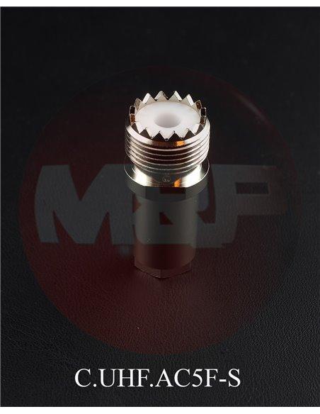 MESSI E PAOLONI CO.UHF.5F-S - Connettore femmina volante UHF (PL) per cavi Ø  5 mm