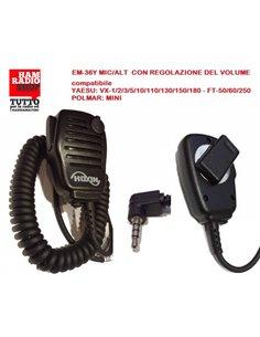 EM-36Y Microfono altoparlante reg. volume per Yaesu SERIE VX3/5 E FT-60/250