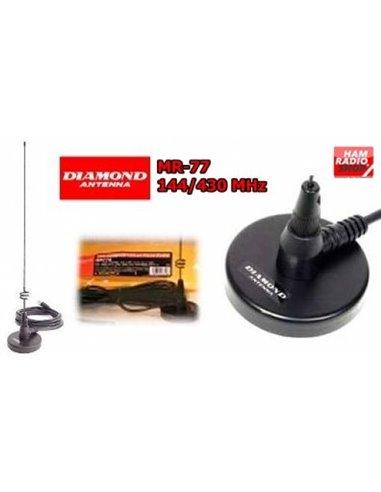 DIAMOND MR-77SJ Antenna veicolare magnetica bibanda 144-430 MHz SMA Femmina