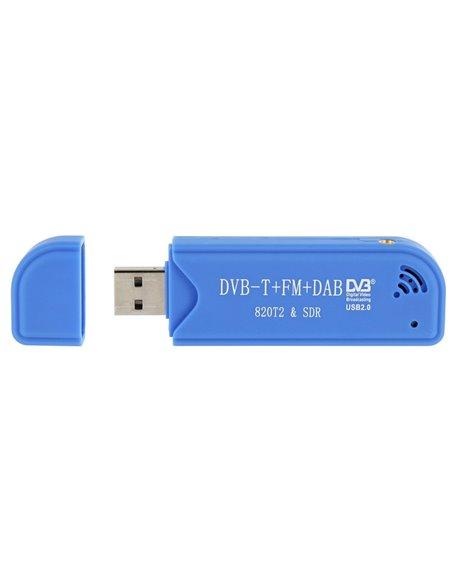 SDR R820T2 TV USB DVB-T Radio FM e radio Digitale ADS B RTL2832U RTL-SDR MCX