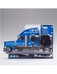 Midland CB GO - Kit CB Veicolare con Antenna Base Magnetica e Cavo Alimentazione