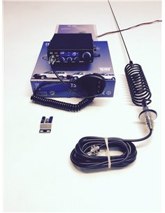 KIT CB COMPLETO RTX TEAM TS-6 MULTINORM E ANTENNA NERA A MOLLONE STINGER BLACK