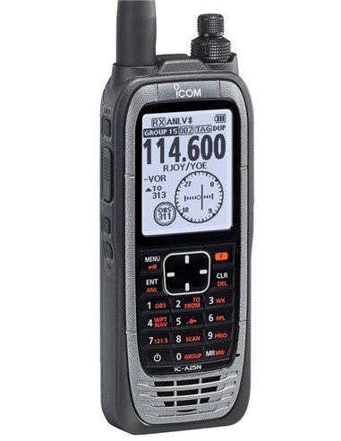 IC-A25NE Ricetrasmettitore aereonautico 6 W PeP con GPS e Bluetooth