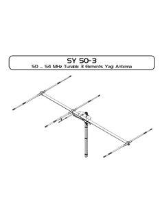SIRIO SY50-3 Antenna direttiva 3 elementi per i 6 metri