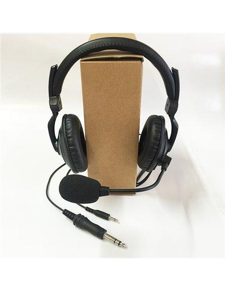 Proxel PJD-HL-PRO - Kit cuffia microfonica con pedale PTT e cavetto adattatore