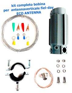 ECO ANTENNE - Bobina per auto-costruzione antenna 10-80 Metri Kit completo