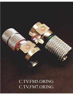 C.TV.FM7/ORING - Coppia connettori F per cavi da 6,5 a 7 mm