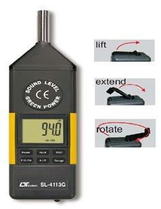 LUTRON SL-4113G - Misuratore SPL livello sonoro con alimentazione duale