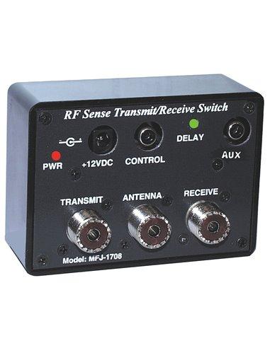 MFJ-1708SDR switch box automatico tra RX e TX commutato da linea SEND