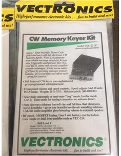 VECTRONICS VEC-221K kit Keyer CW 4 memorie 128 caratteri ognuna