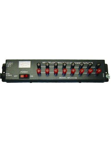MFJ-1116 distribuzione di alimentazione 12 V con voltmetro