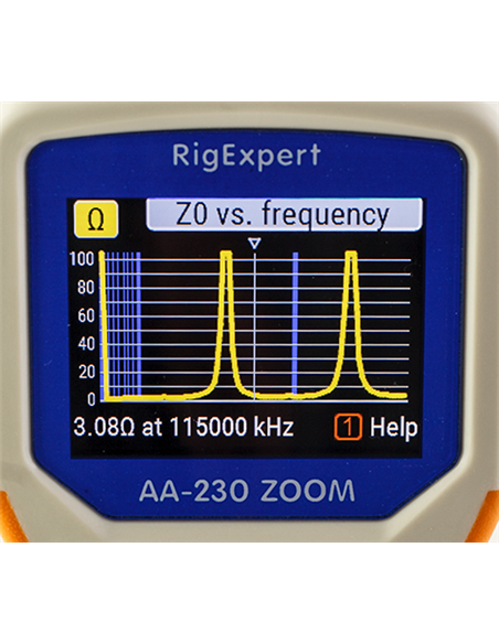 RigExpert AA-230 ZOOM Analizzatore d'antenna  0.1-230 MHz