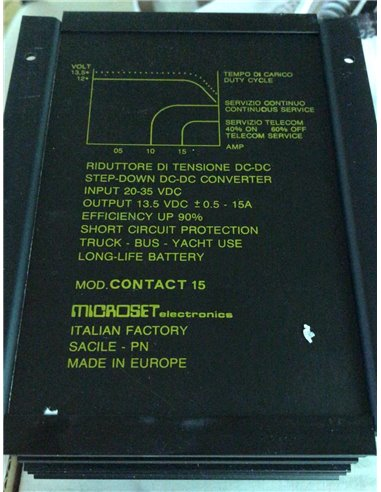 MICROSET CONTACT 15 riduttore di tensione da 26/35V a 13,8 V 15 A