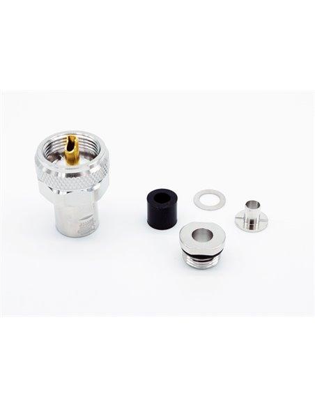 HRS PL-5PRO - Connettore professionale PL maschio per cavi 5 mm