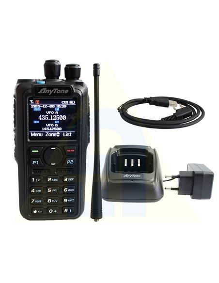 Anytone AT-D878UV PLUS - RTX DMR portatile con bluetooth e display a colori