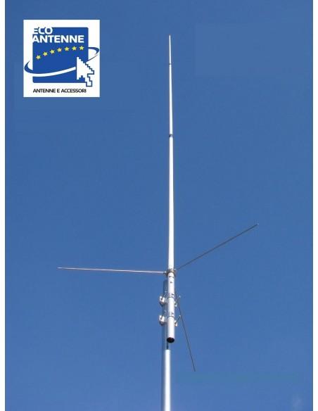ECO ANTENNE X510M - Antenna verticale bibanda da base, 520 cm.