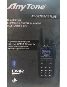 ANYTONE AT-D878UVII PLUS - Ricetrasmettitore Portatile VHF/UHF con APRS e Bluetooth