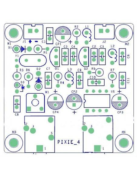 HRS Pixie QRP Kit - Ricetrasmettitore cw banda 40 metri 7.023 MHz